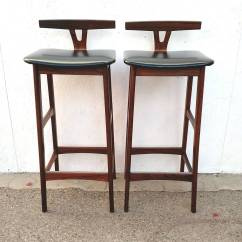Modern Bar Chairs Posture Chair Care Pair Of Mid Century Danish Rosewood Stools By