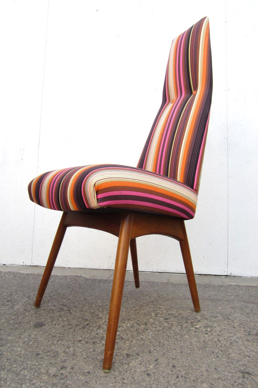 Tall Back Dining Chairs Mid Century Modern Adrian Pearsall Tall Back Dining Chairs