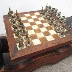 Black Walnut Kitchen Table Diy Outdoor Ideas Mid-century Modern Witco Sculpted Swamp Cedar Chess ...
