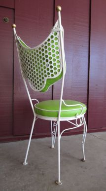 Vintage Salterini Style Patio Chairs And Cafe Table Set
