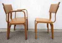 Michael Thonet Birch Bentwood Dining Chairs, Captain ...
