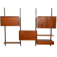 Mid-Century Modern Poul Cadovius Cado Wall Unit Cabinet ...