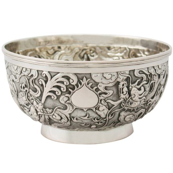 Chinese Export Silver Bowl - Antique Circa 1890 1stdibs