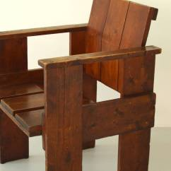 Gerrit Rietveld Crate Chair Blue Office Chairs Albatros By For Sale At 1stdibs