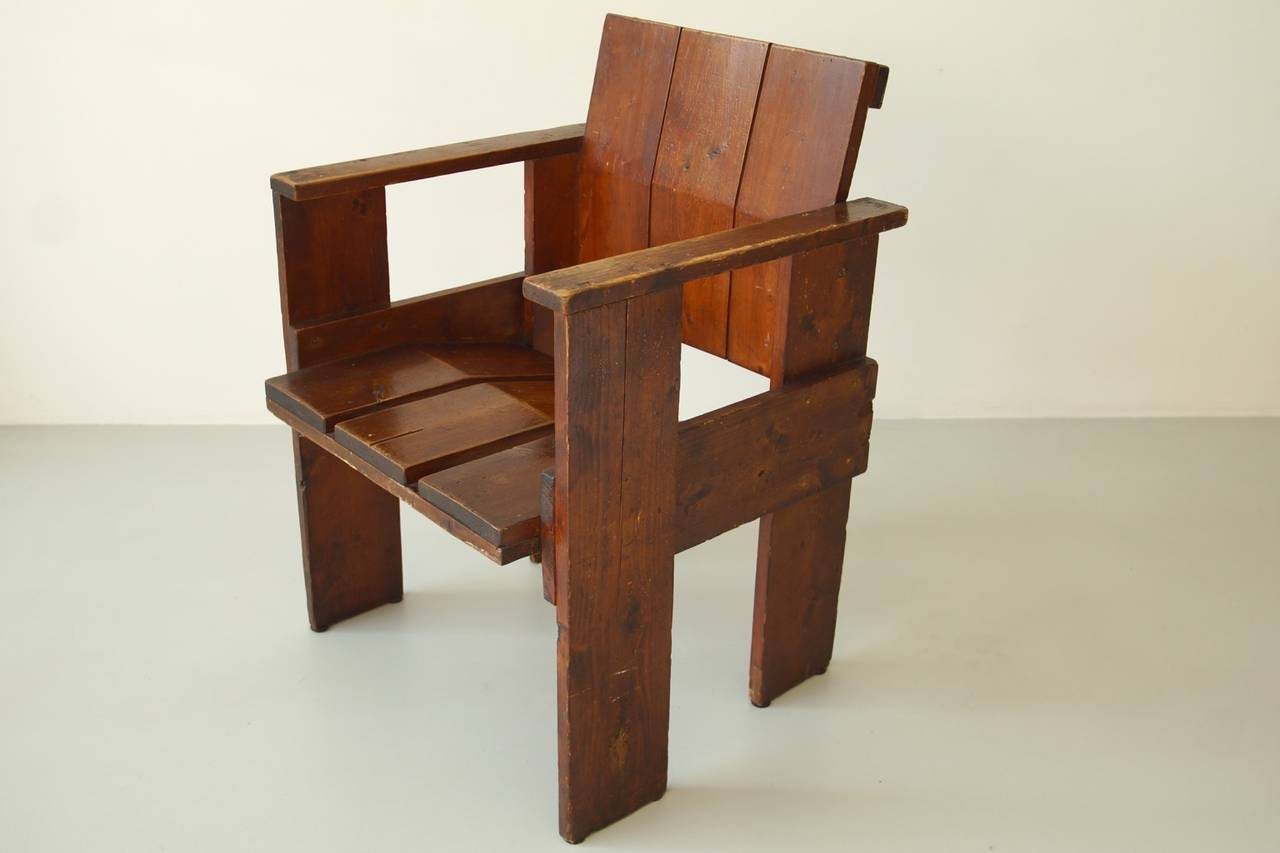 gerrit rietveld crate chair leather club with ottoman albatros by for sale at 1stdibs