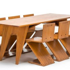 Chair And Matching Stool Step Target Zigzag Table With Six Chairs For Sale At