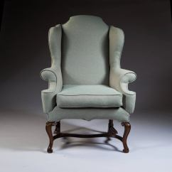 Large Wingback Chair Lawn Lounge Chairs George I Style Scale Wing For Sale At 1stdibs