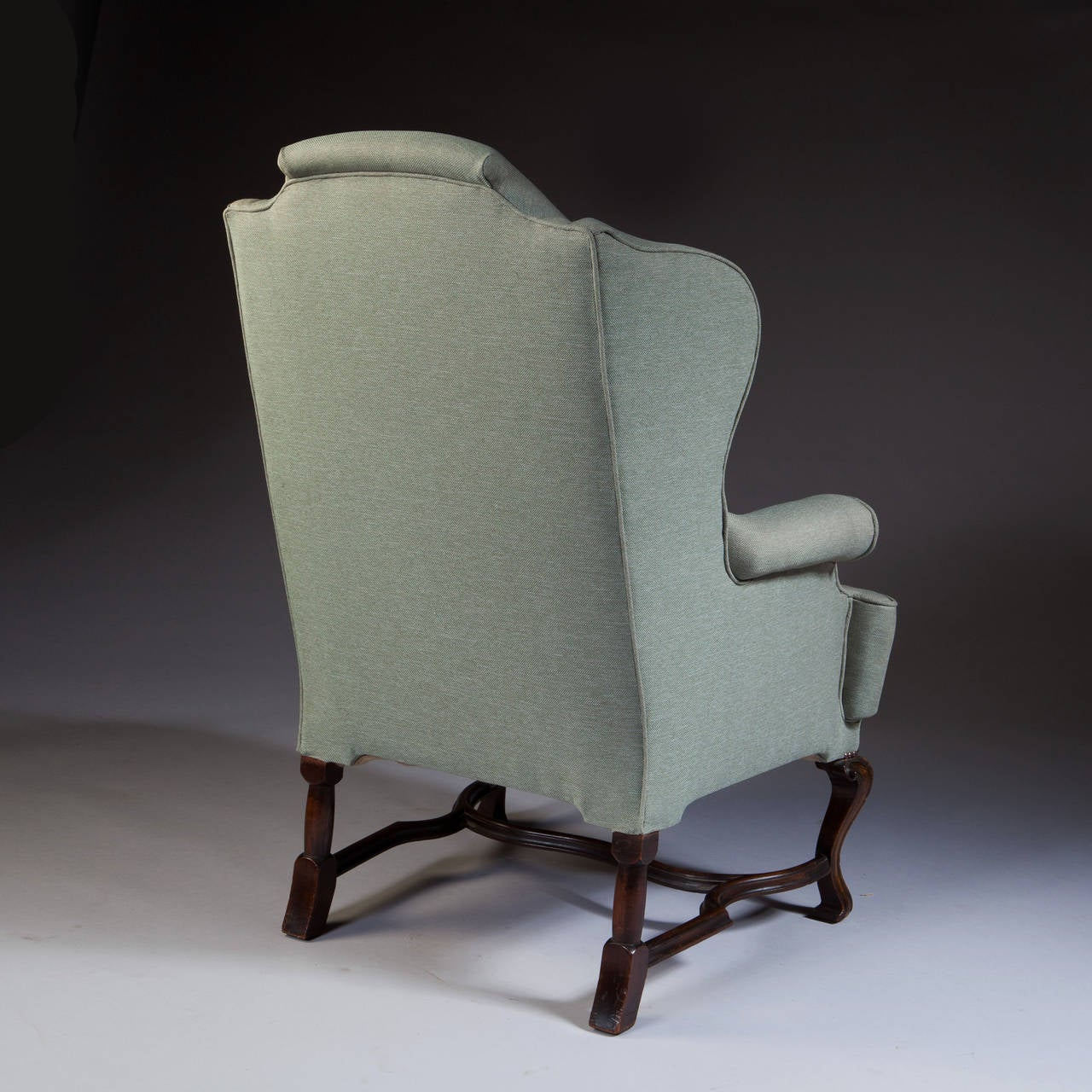 large wingback chair white leather dining chairs george i style scale wing for sale at 1stdibs