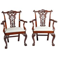 Dining Chairs For Sale Office Chair Accessories Parts Fine Pair Of Chippendale Mahogany