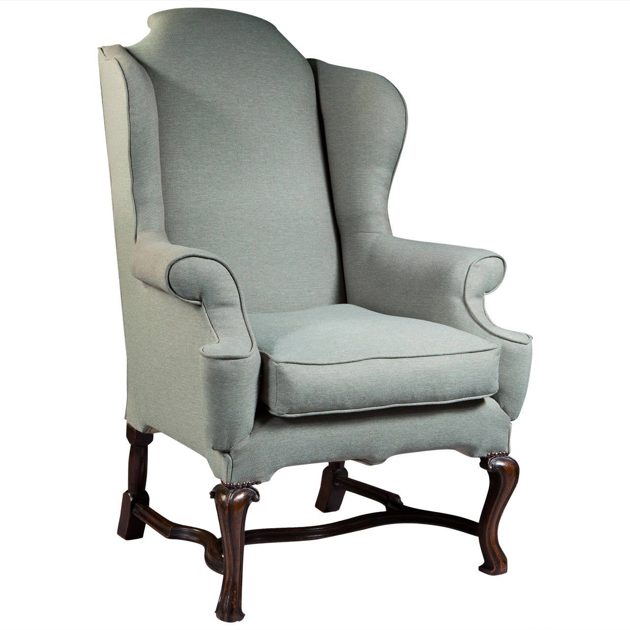 large wingback chair christmas recliner covers george i style scale wing for sale at 1stdibs