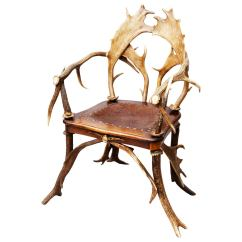 Arm Chairs For Sale Chair Cover Hire Cambridgeshire Rustic Red Stag And Fallow Deer Antler Armchair