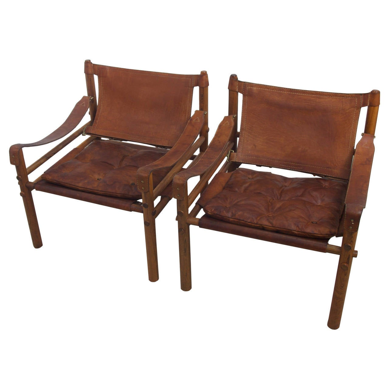 Safari Chair Arne Norell Rosewood And Leather Quotsirocco Quot Safari Chairs
