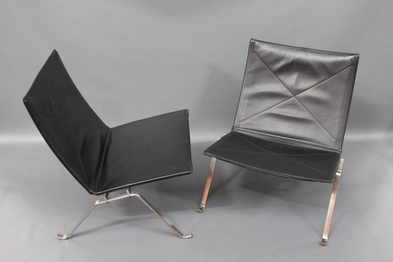 PK22 Lounge Chairs by Poul Kjrholm Made by Fritz Hansen