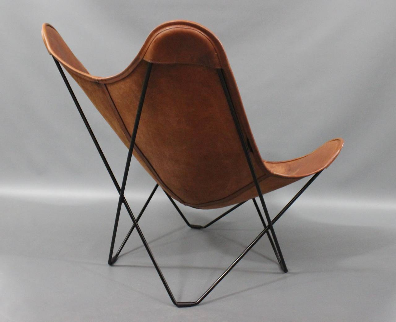 Brown Leather Butterfly Chair Leather Quotbutterfly Quot Chair Designed By Jorge Ferrari Hardoy