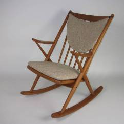Mid Century Modern Rocking Chair Canada Queen Anne Legs Replacement Teak Designed By Frank Reenskaug