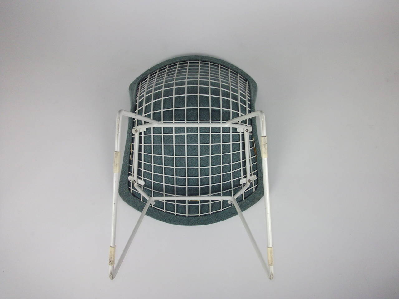 bertoia wire chair original wide recliner pair of vintage harry chairs for