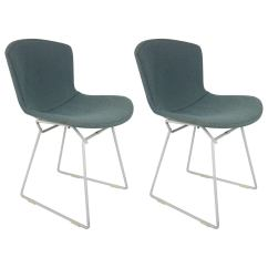 Bertoia Wire Chair Original Space Saver High Tray Pair Of Vintage Harry Chairs For