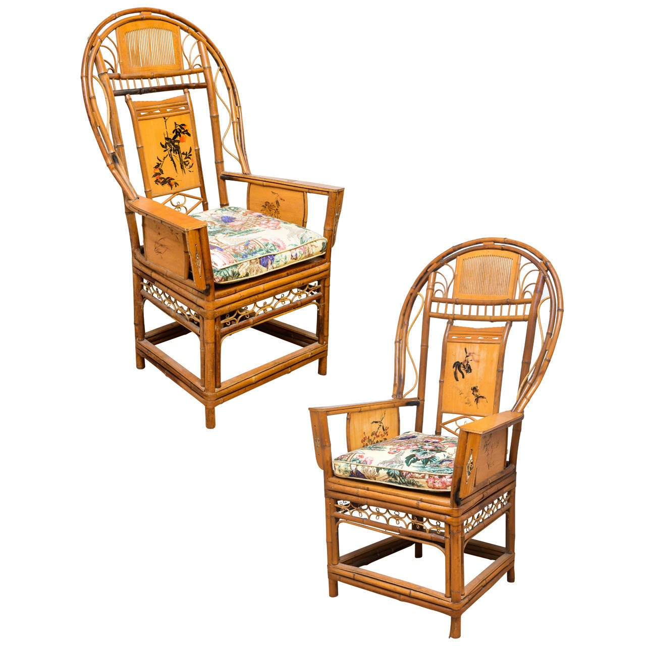 Fan Back Chair Pair Of Bamboo Fan Back Chairs At 1stdibs
