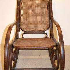 Thonet Chair Styles Dining Room Leg Protectors 19th Century Bentwood Rocker At 1stdibs