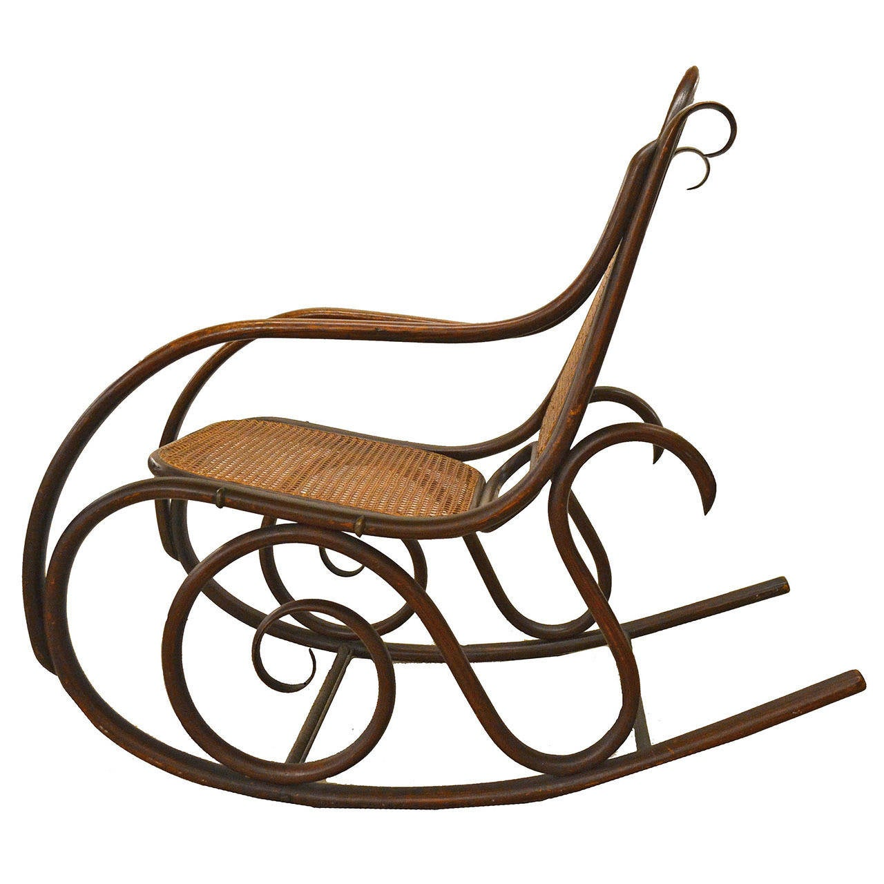 bent wood rocking chair antique wooden desk on wheels 19th century thonet bentwood rocker at 1stdibs