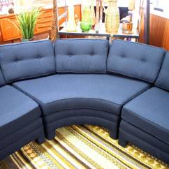 Fabric Protection For Sofas Leather Sofa Auction Three-piece Curved Parsons Style Sectional Sofa, Circa ...