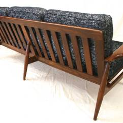 Modern Sofa Chair Desk With No Wheels Mid Century Danish Walnut Frame And New