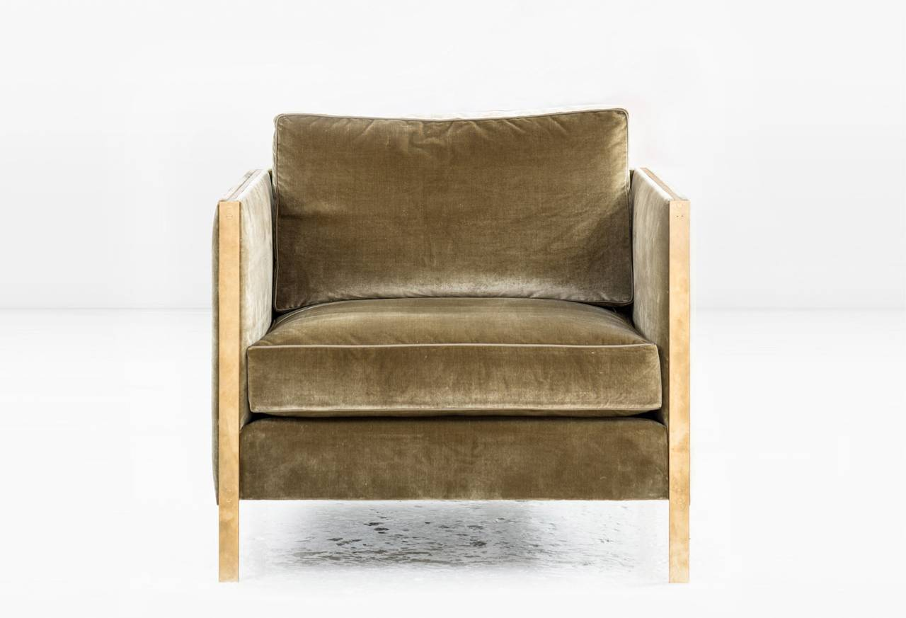 leather armchair metal frame chair cover rentals west palm beach armstrong or club with down filled silk