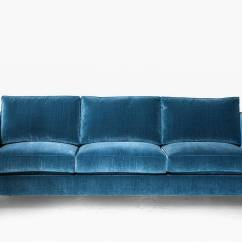 Cotton Velvet Sofa Ashley Sofas India Armstrong With Blue And Brass Frame For