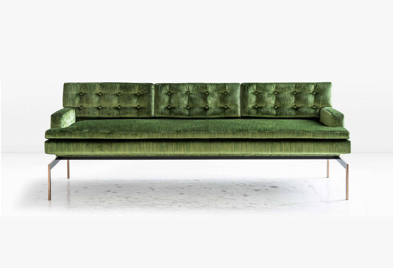 green velvet tufted chair cover hire dorset mancini sofa with back in and silicon