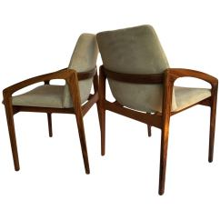 Set Of 4 Chairs French Cane Kai Kristiansen Rosewood Dining At 1stdibs