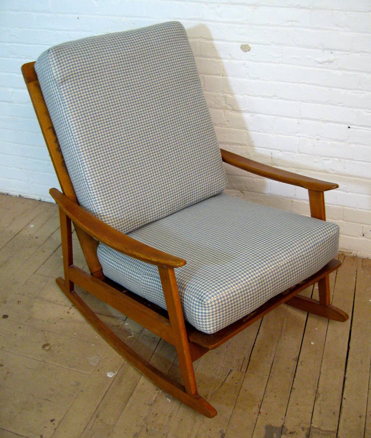 mid century modern rocking chair large covers for sale at 1stdibs