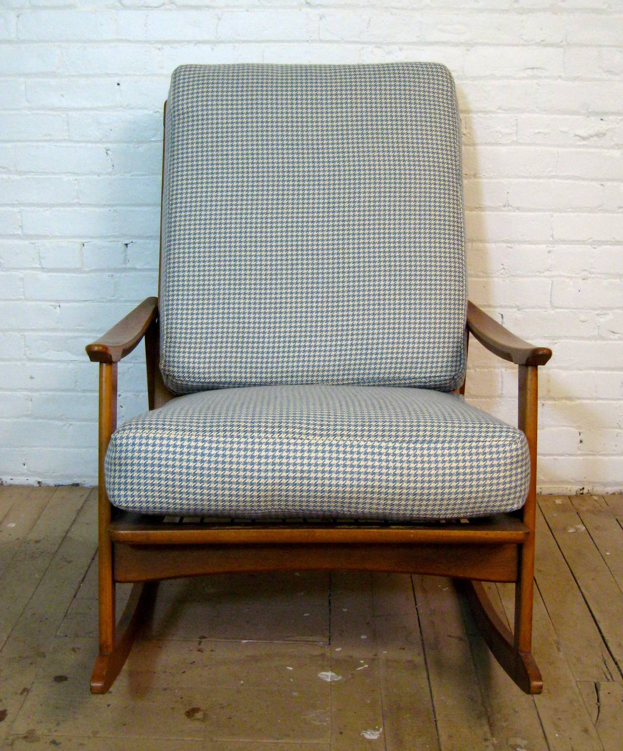 mid century modern rocking chair posture perfect evolution for sale at 1stdibs