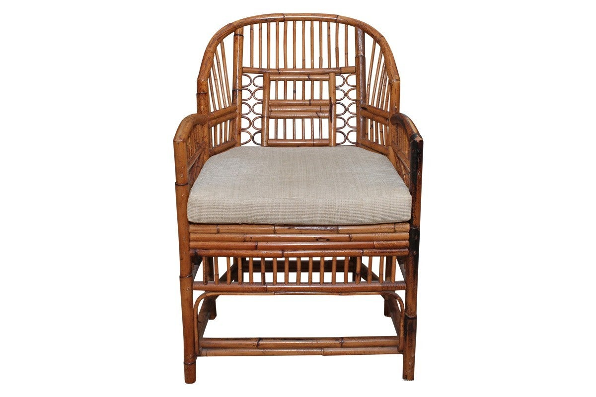 Set of Six Vintage Bamboo and Rattan Chippendale Chairs at