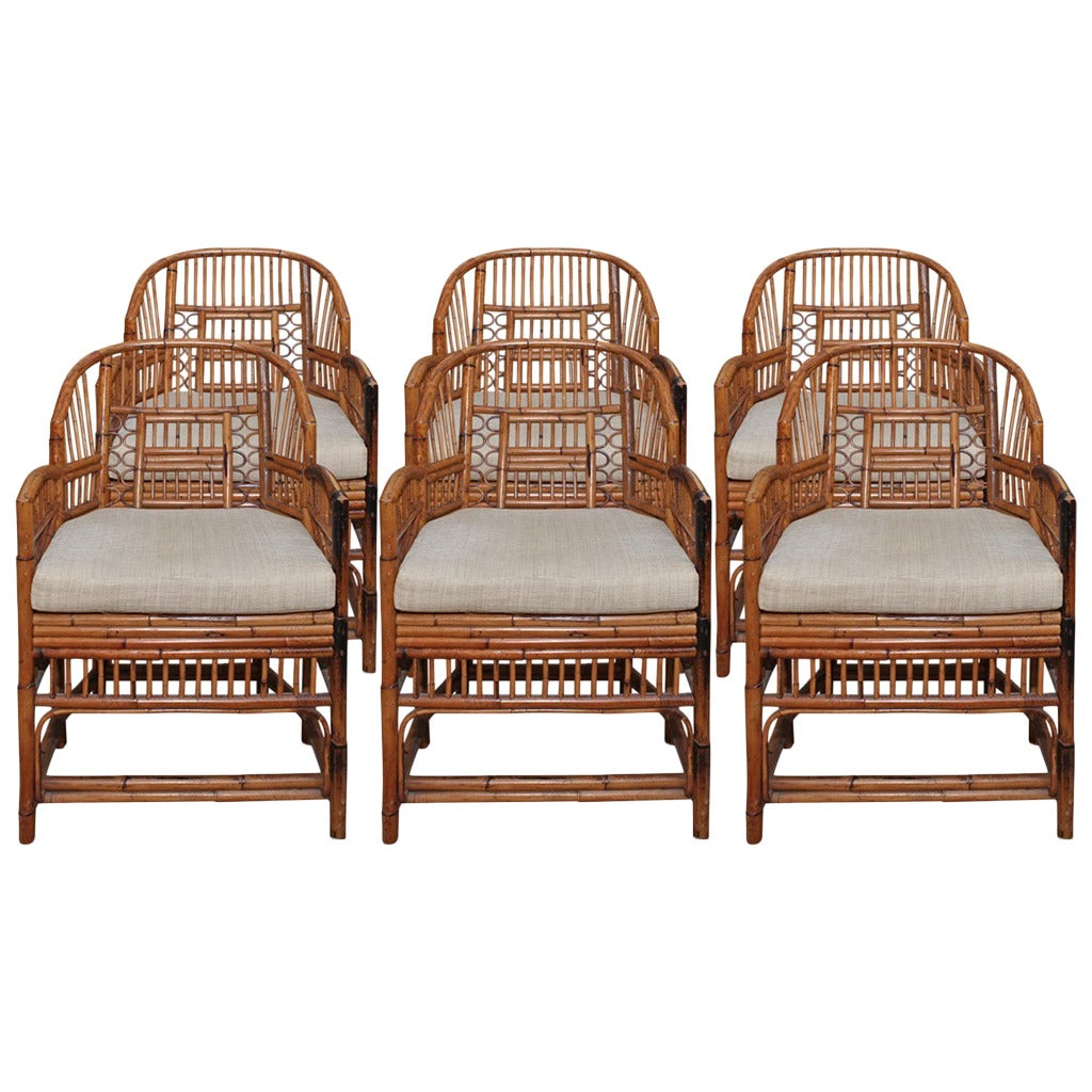 bamboo chairs reclining rocking chair with ottoman set of six vintage and rattan chippendale at