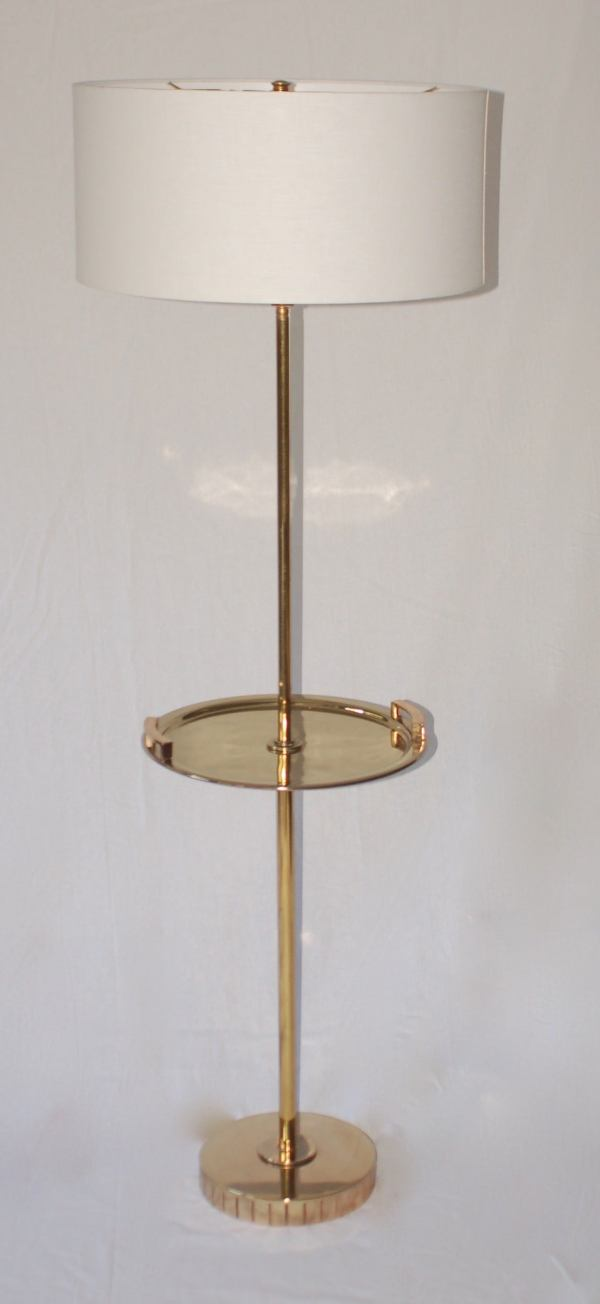 Brass Floor Standing Lamp With Tray Table 1stdibs