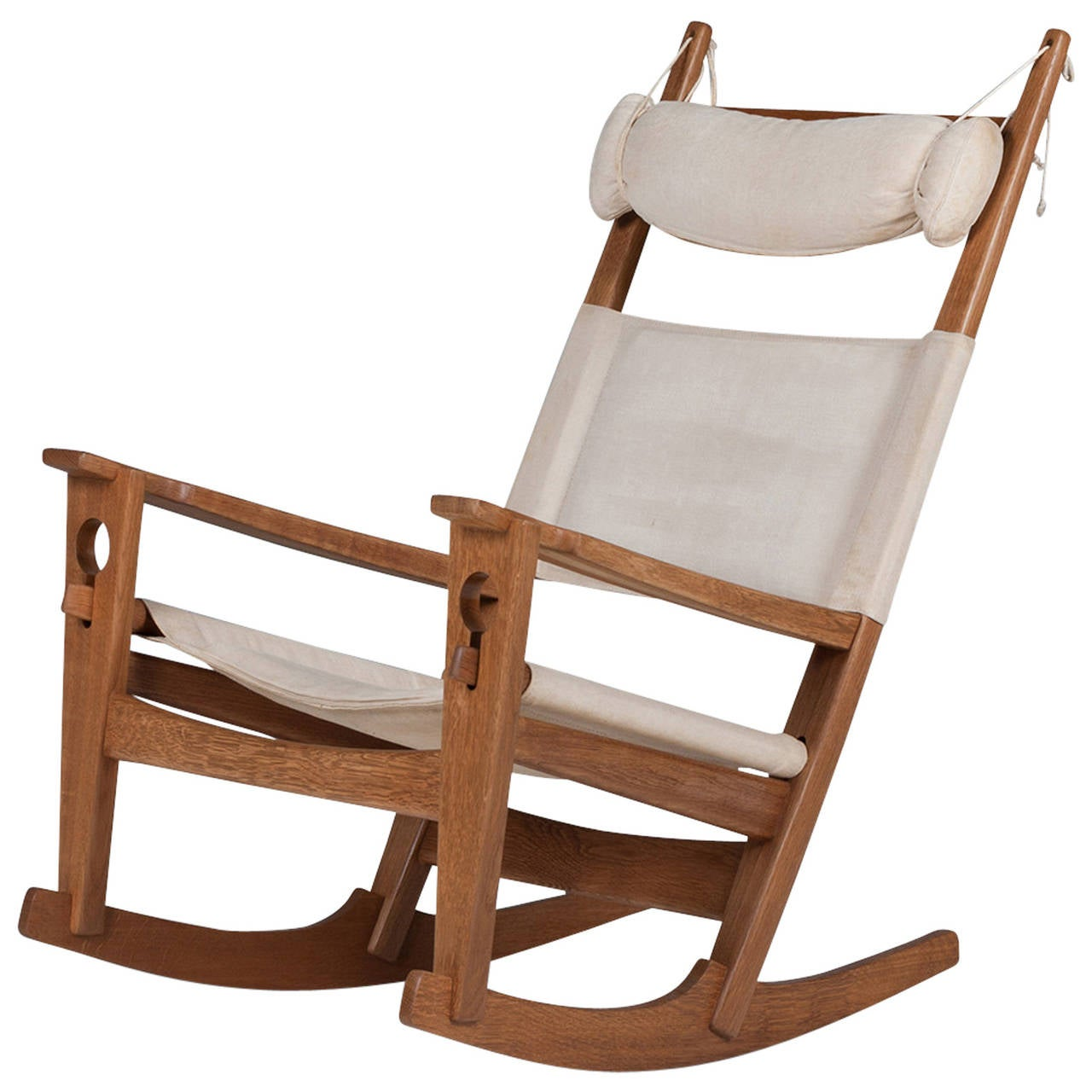 hans wegner rocking chair dining room covers for christmas vintage danish keyhole 675 by j