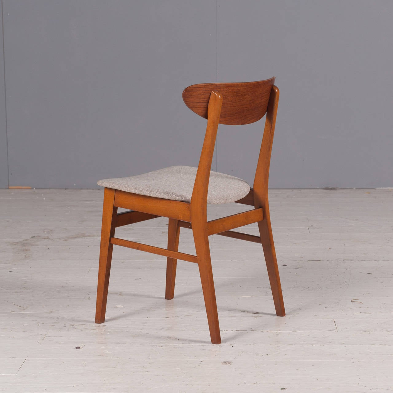 oval back dining room chairs wide rocking chair danish farstrup in teak set of