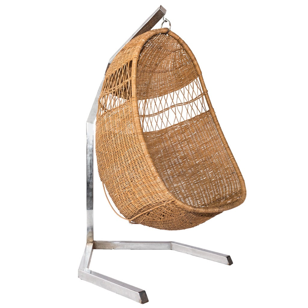 Swing Chairs Wicker Swing Chair At 1stdibs