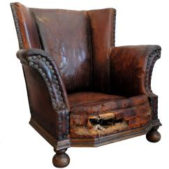 Distressed Leather Desk Chair Rei Camp Chairs Armchair At 1stdibs