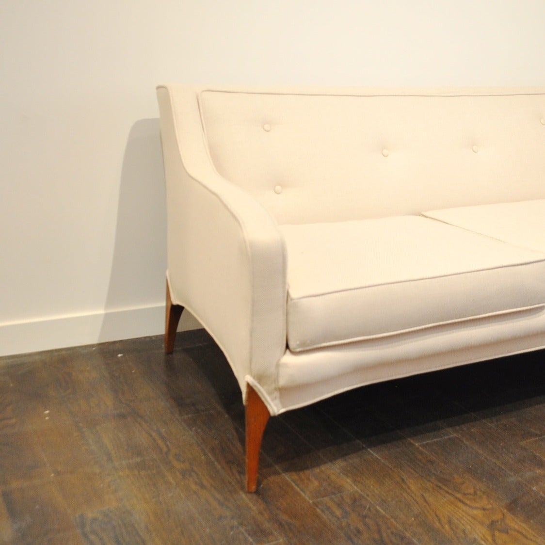 hollywood regency curved sofa leather sectional naples fl mid century at 1stdibs
