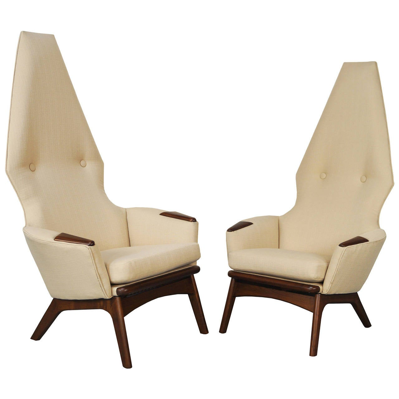 High Back Lounge Chair Vintage High Back Lounge Chairs By Adrian Pearsall At 1stdibs