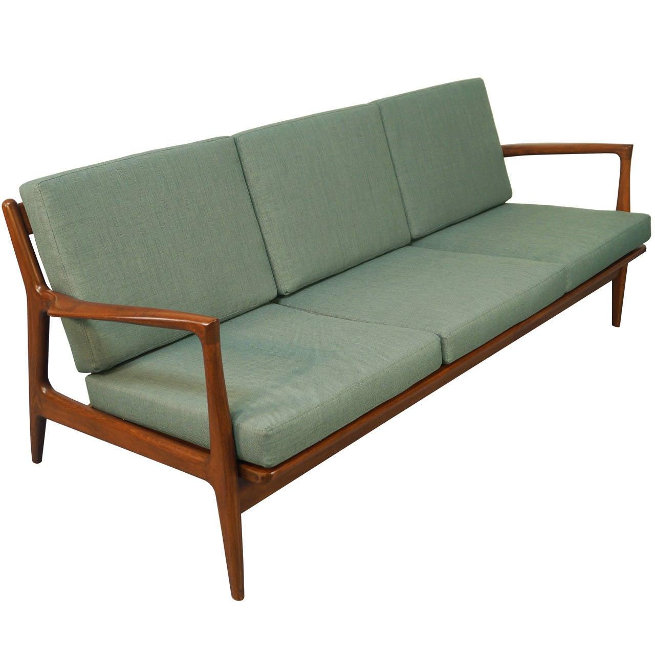 Danish Modern Sofa by Ib KofodLarsen at 1stdibs