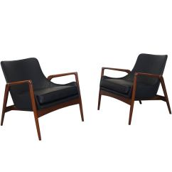 Leather Chair Modern Spider Web Target Danish Lounge Chairs By Ib Kofod Larsen At