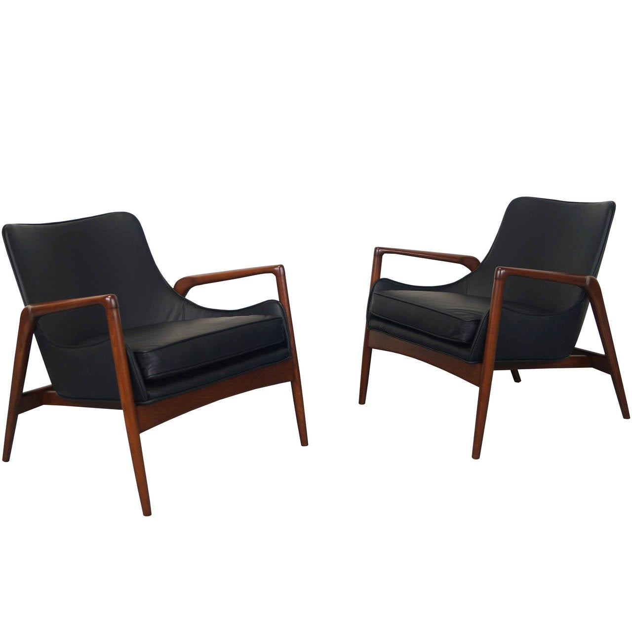 modern leather lounge chair cover rentals fort worth danish chairs by ib kofod larsen at