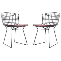 Bertoia Wire Chair Original Ikea Foldable Chairs Harry For Knoll Side In Black At 1stdibs