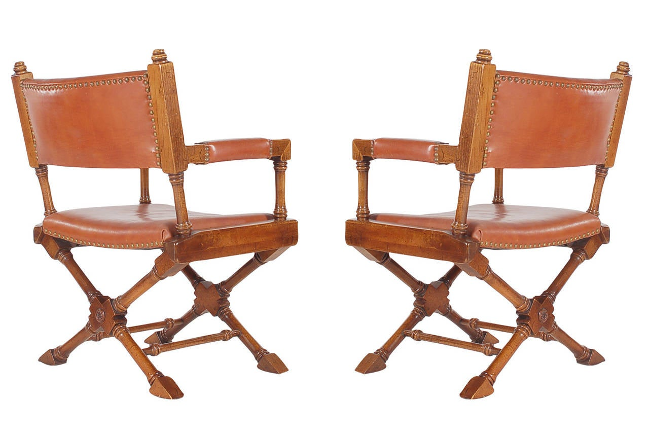 leather directors chair toddler camping vintage campaign or director chairs at 1stdibs