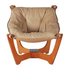 Leather Sling Chairs Medicine Ball Chair Benefits Scandinavian Lounge And Ottoman At 1stdibs