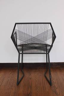 Hand-welded Geometric Metal Armchairs 1stdibs