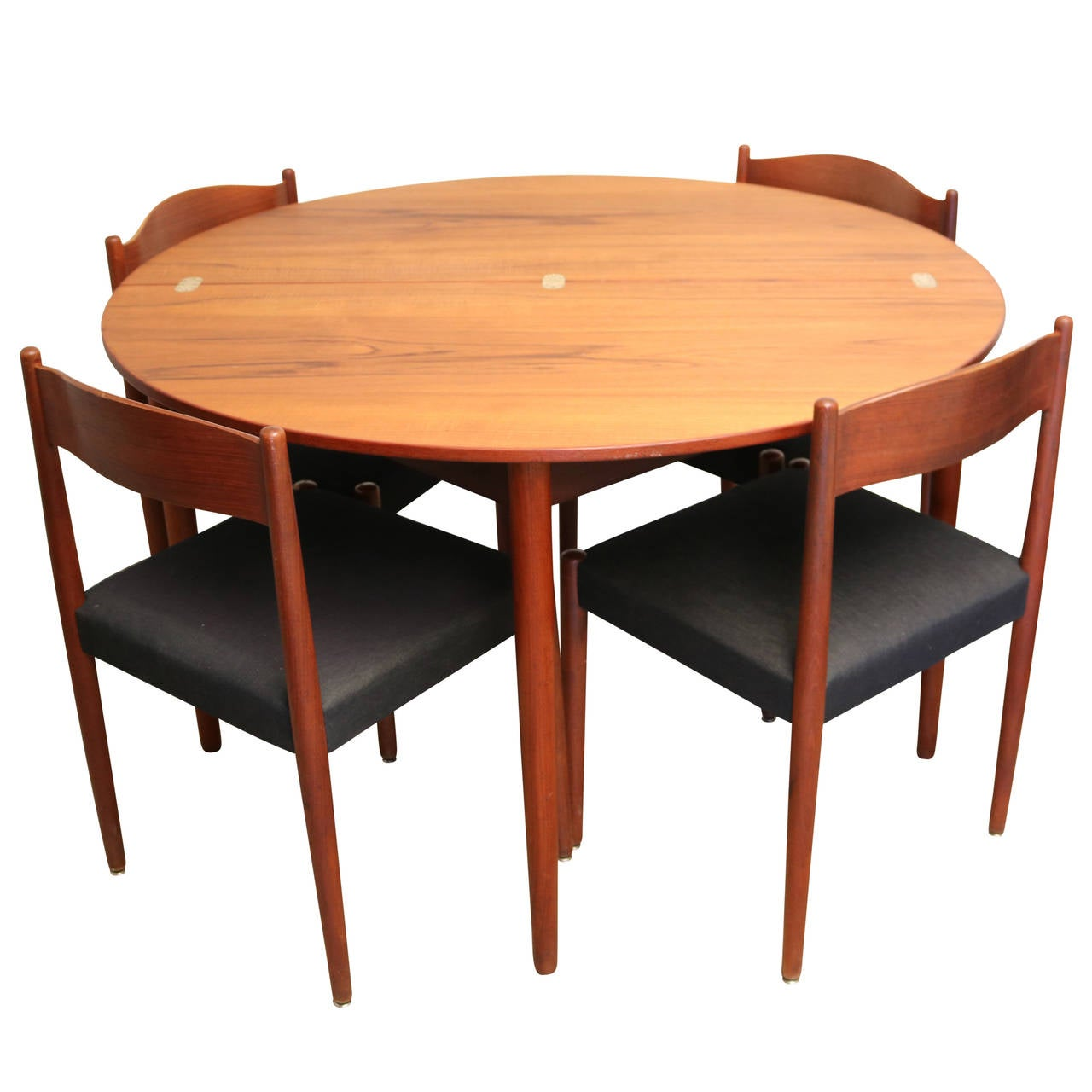 teak folding chairs and table copper real good chair round dining by poul volther