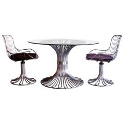 Chrome Dining Chairs Australia Chair Cover Hire Cork Italian 1970s Set For Sale At 1stdibs